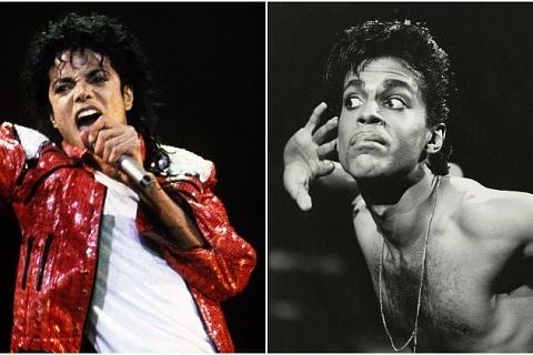 Prince és Michael Jackson